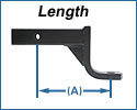 Ball Mount Length