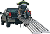 Big Boy II Motorcycle Ramps loading motorcycle