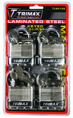 Trimax Laminated Steel 4-Pack Lock
